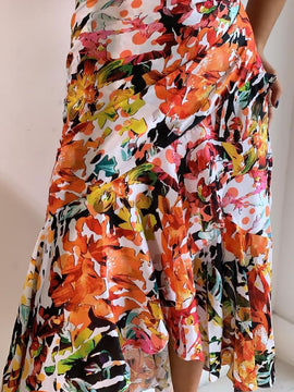 SILK MAXI FLOWER SKIRT