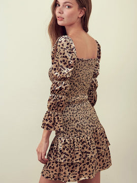 SQUARE NECK LEOPARD TOP