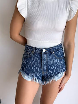 DISTRESSED CUT OFF SHORTS