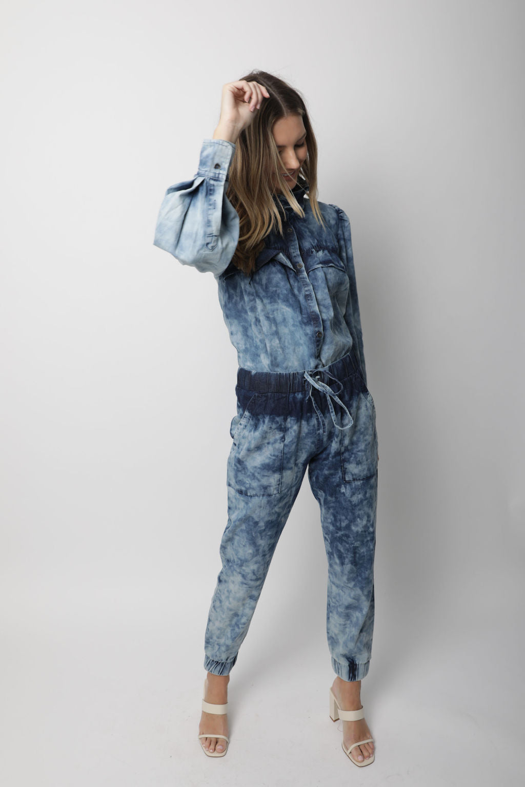 ACID WASHED DENIM JOGGER