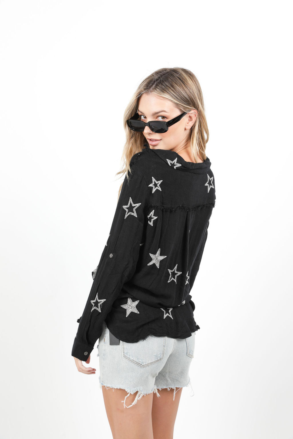 WASHED STAR BLACK TOP