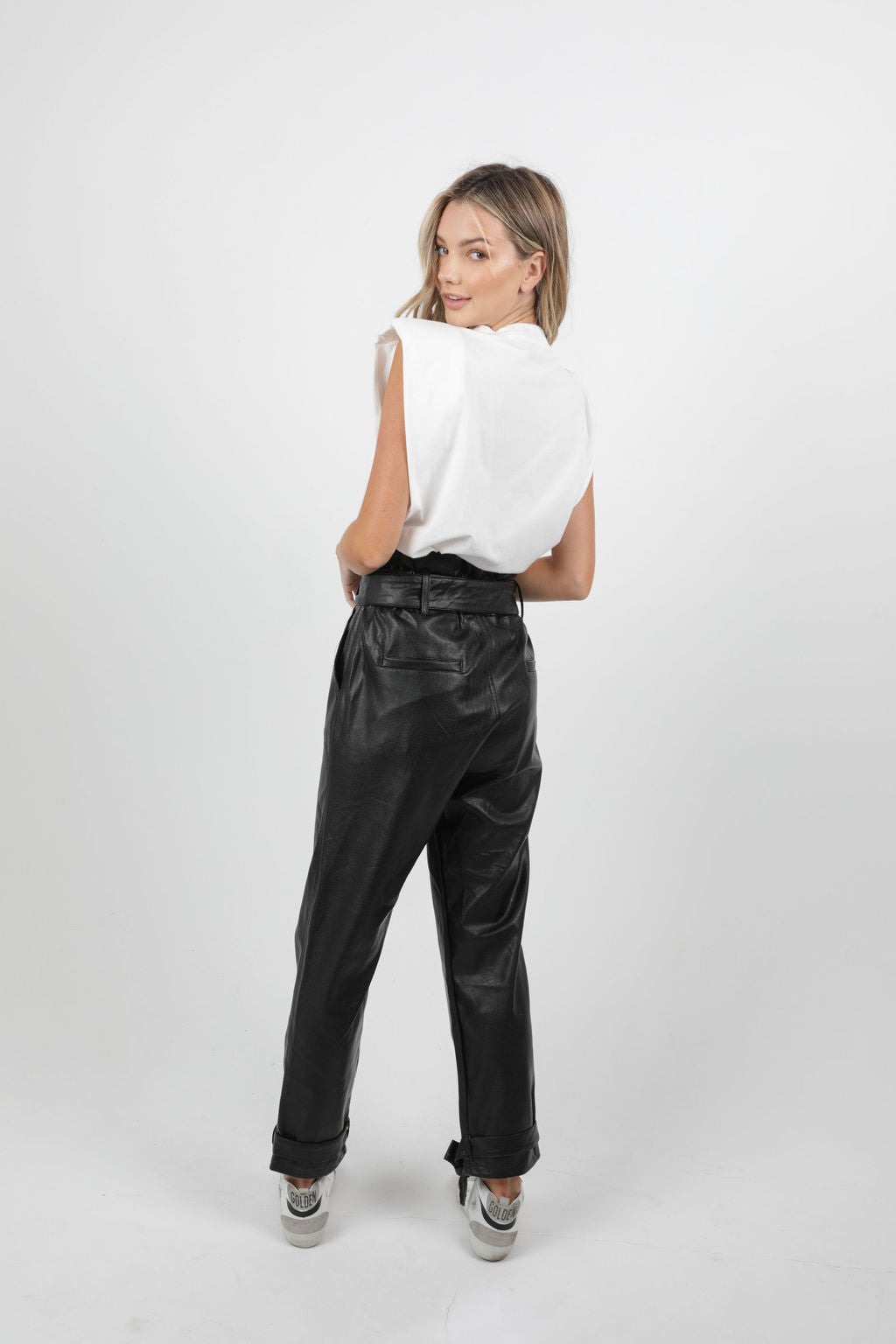 PAPERBAG LEATHER PANTS