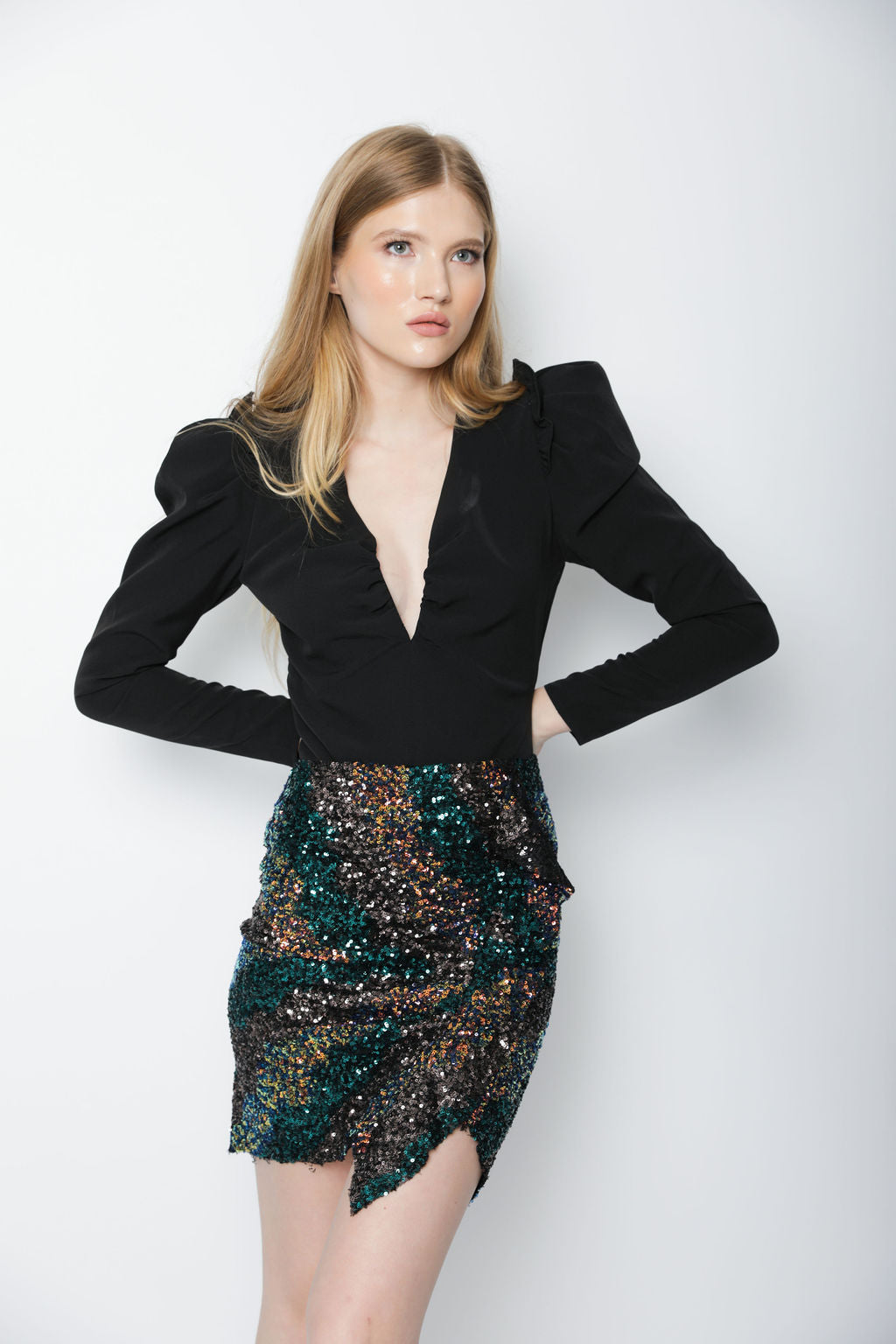 AFTERGLOW SEQUIN SKIRT