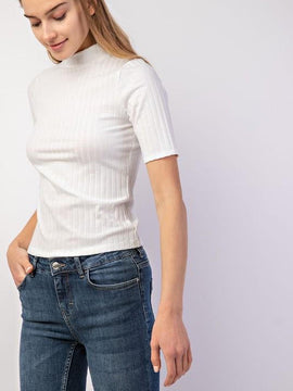 Turtle Neck Top Short Sleeve