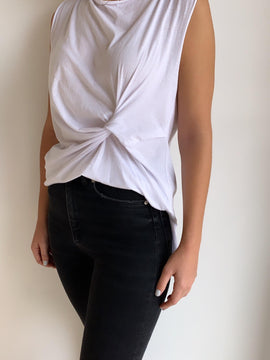 Side Knot Soft Jersey Top