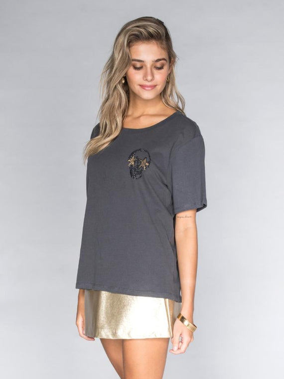 STUDDED MINI SKULLS T-SHIRT