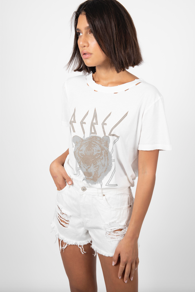 WHITE REBEL TEE