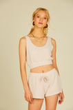 SAND KNIT CROP TOP