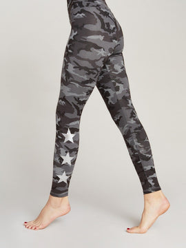 TONAL CAMO SILVER STAR LEGGINGS
