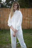 WHITE EMBROIDERED JUMPSUIT
