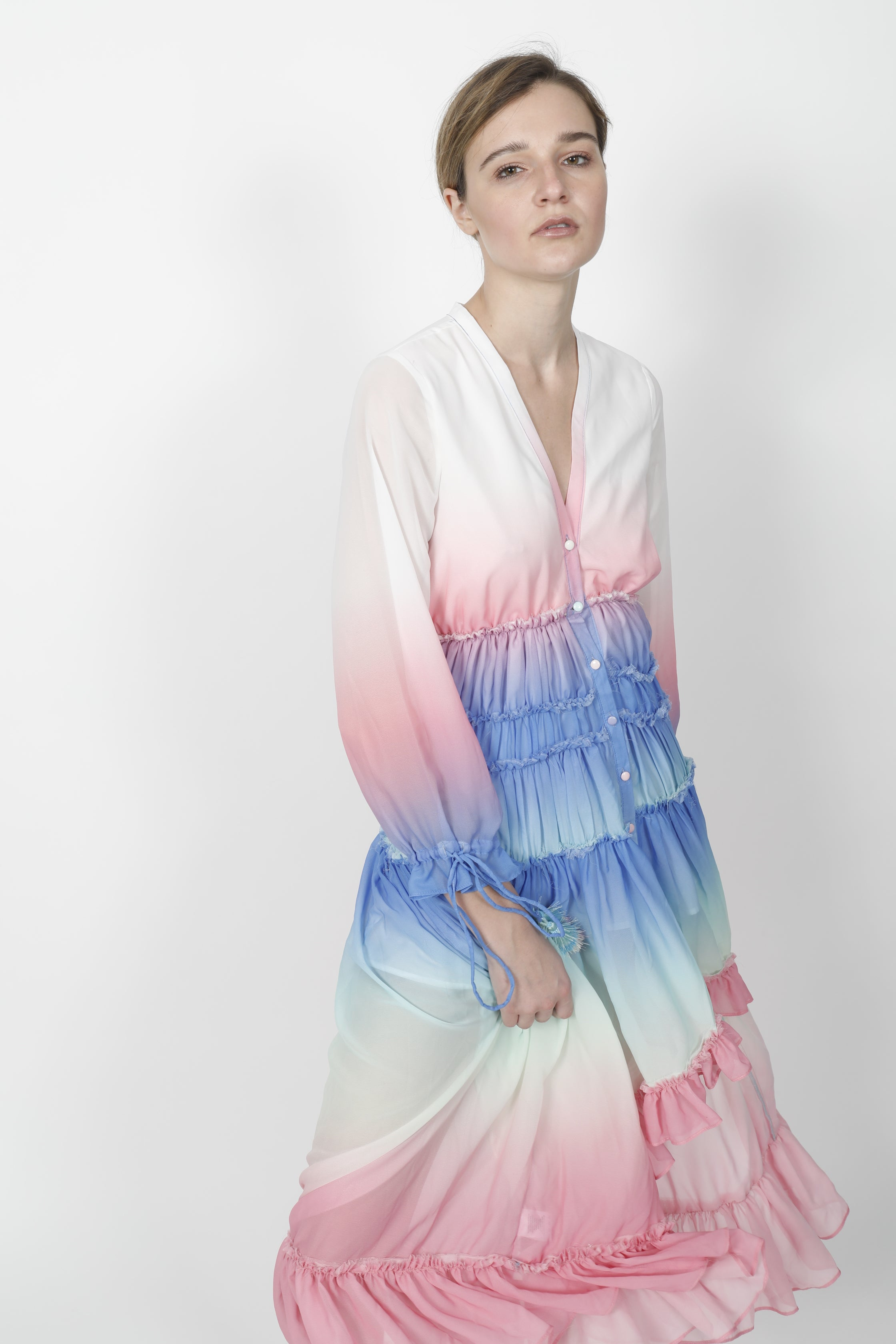 RAIMBOW RUFFLE DRESS