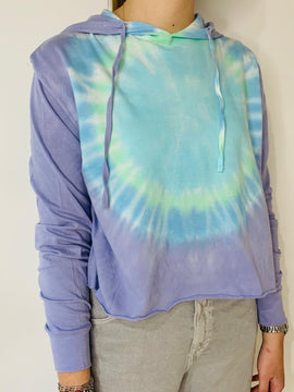 PURPLE TIE DYE LONG SLEEVE TEE