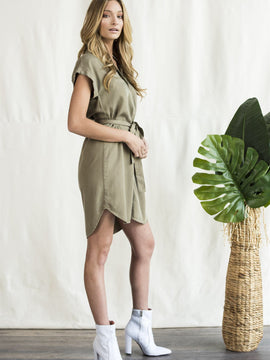 Mini Casual Dress Olive