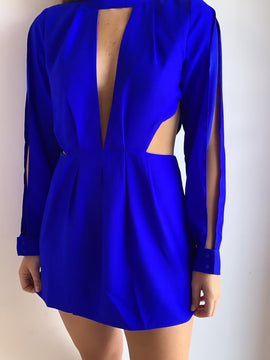 Mini Dress Royal Blue