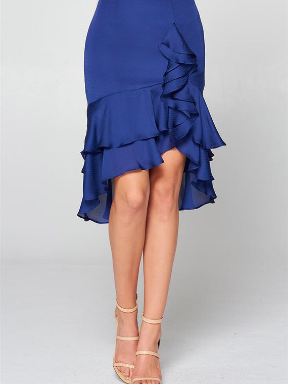 Galway Ruffle Frills Detail Satin Dot Skirt