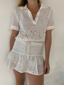 Embroidered Classic Top