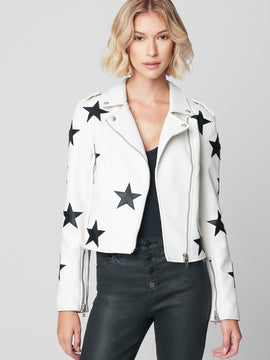 WHITE STAR LEATHER JACKET