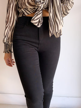 BLACK HIGH WAIST STRETCHY PANTS