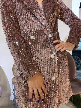 DUSTY ROSE BLAZER DRESS
