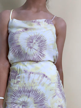 YELLOW TIE DYE TANK TOP