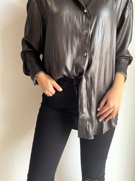 CHARCOAL BUTTON DOWN SHIRT