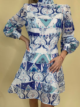 BLUE ECLECTIC DRESS