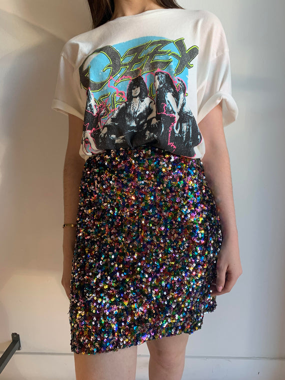 MULTI SEQUIN MINI SKIRT