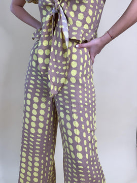 POLKA DOT PANTS BROWN & YELLOW