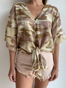 DESERT CAMO DOUBLE TIE TOP