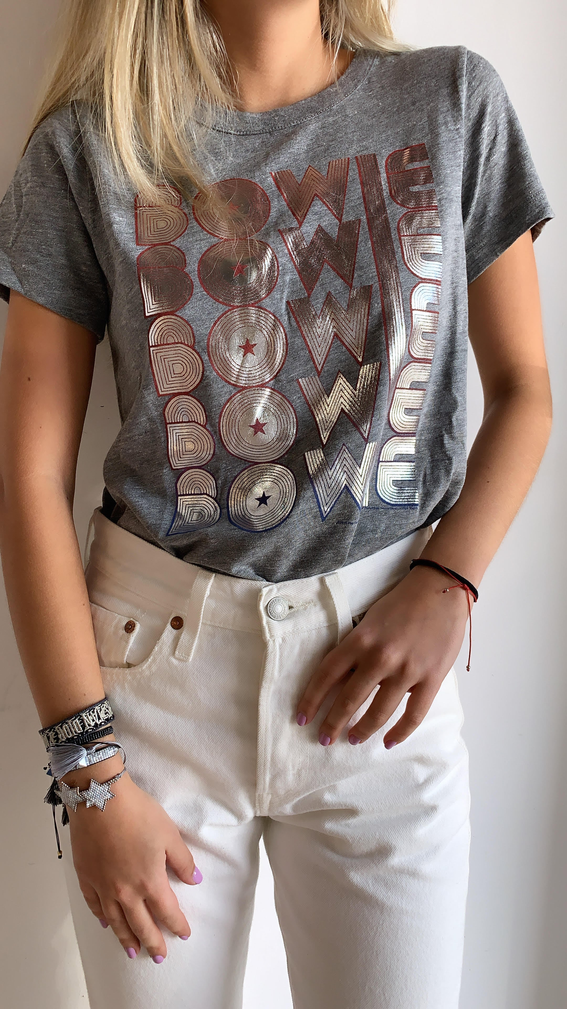 DAVID BOWIE CROP TEE