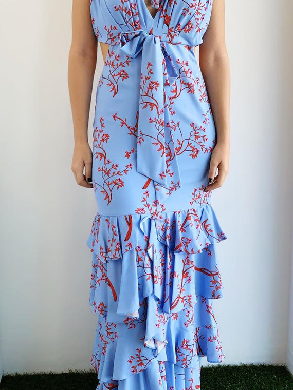 BLUE BLOSSOM DRESS