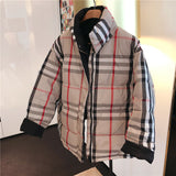 Reversible Plaid Jacket Kids + Parents
