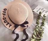 Off duty straw hat