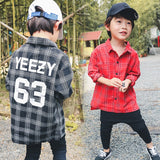 Yeezy plaid long sleeve shirt