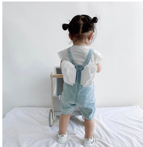 Angelic denim wing overall