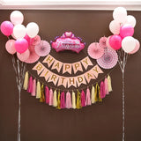 Happy birthday garland set backdrop party decoration