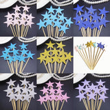 Happy birthday stars hearts cake topper party decoration