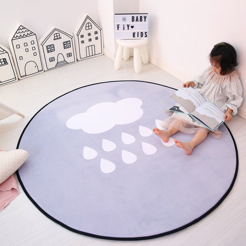 Round rug play mat room decor