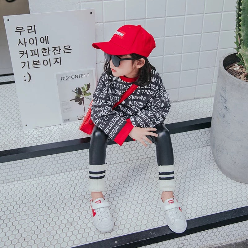 Balaga sweatshirt / Sport PU leggings