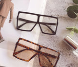 Clear Square oversized sunglasses