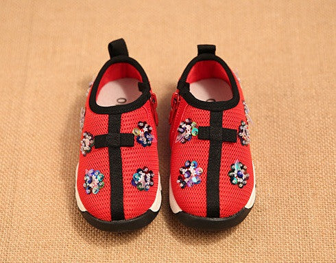 Red Baby Fusion Sneakers