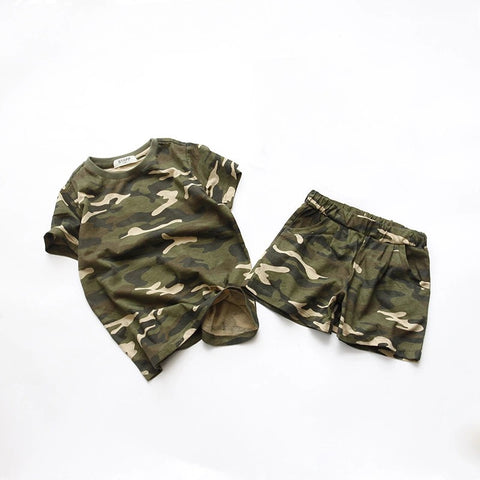Camo Tshirt Pants Set