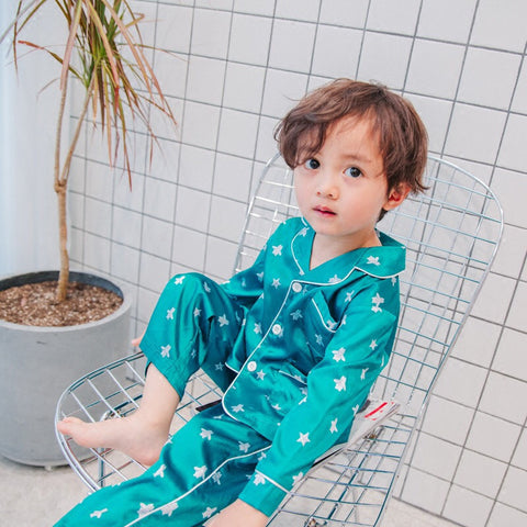 Bee silk pajamas set