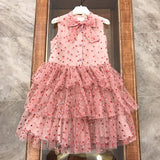 Heart pink tulle dress