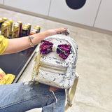 Sequins bow backpack