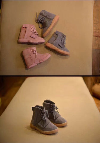 FFYK collection Grey high top Gum sole / Pink High top