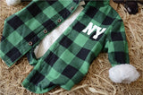 Plaid shearling flannel shirt