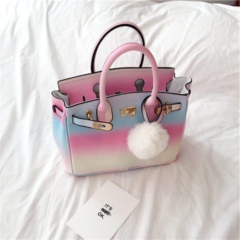 Candy collection rainbow handbag