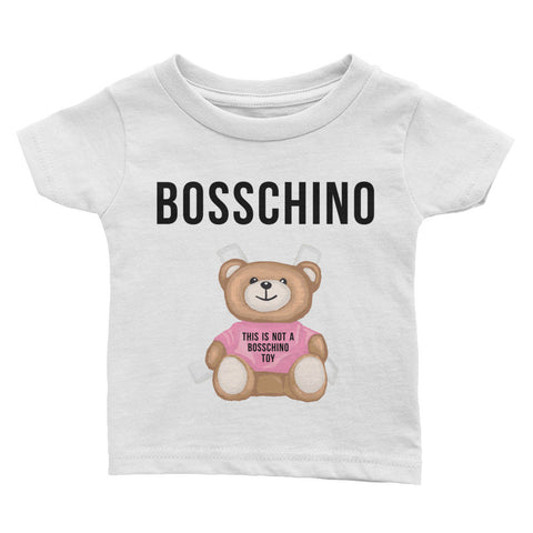 BOSSCHINO Pink Infant Tee