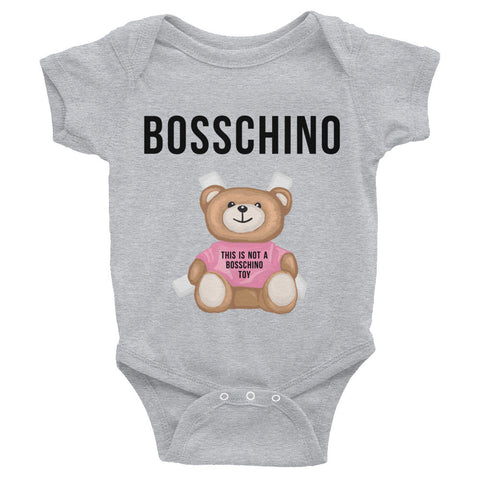 BOSSCHINO Pink Infant Bodysuit